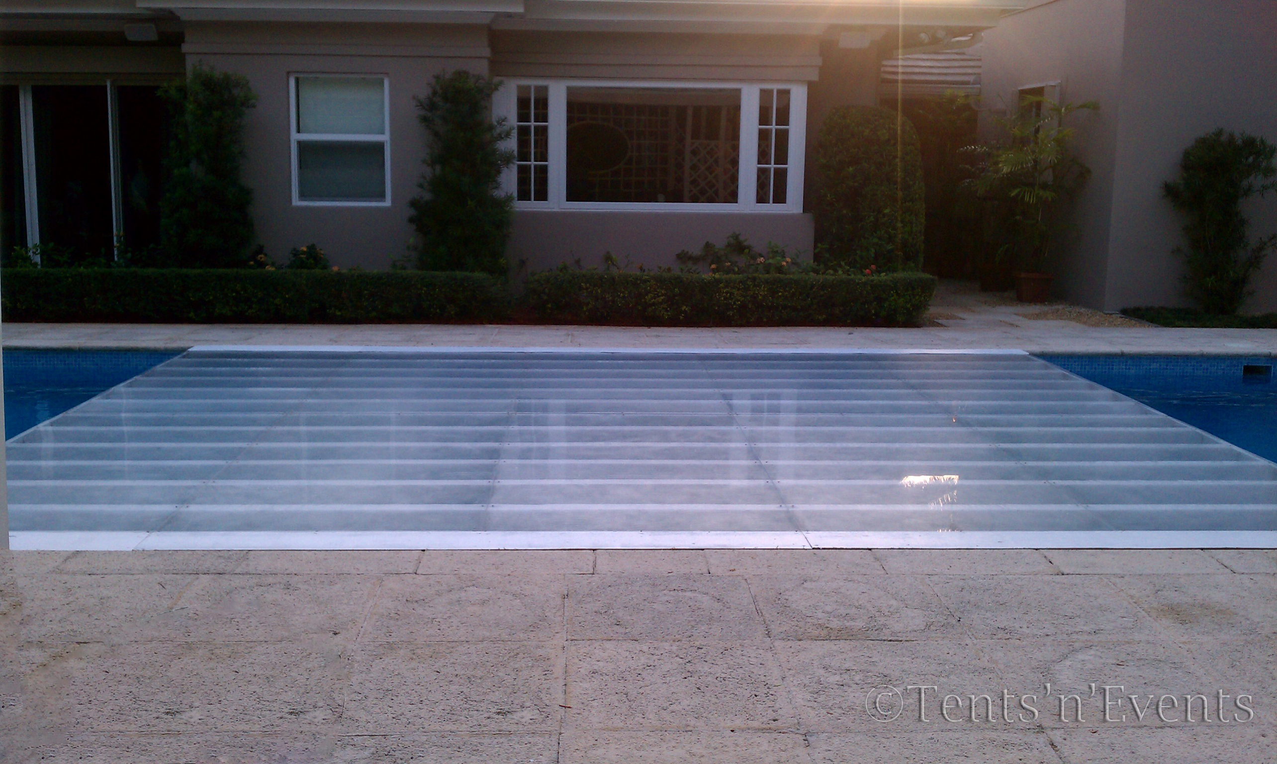 All Plexi Glass – Flush Partial Pool Cover