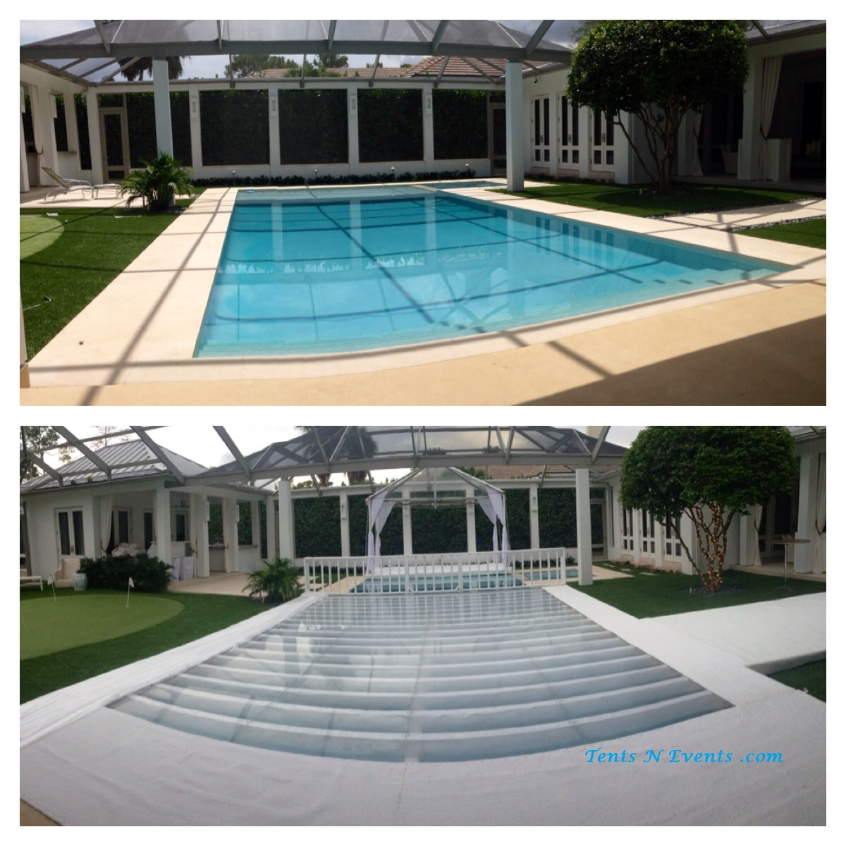 BEFORE & AFTER POOL COVER
