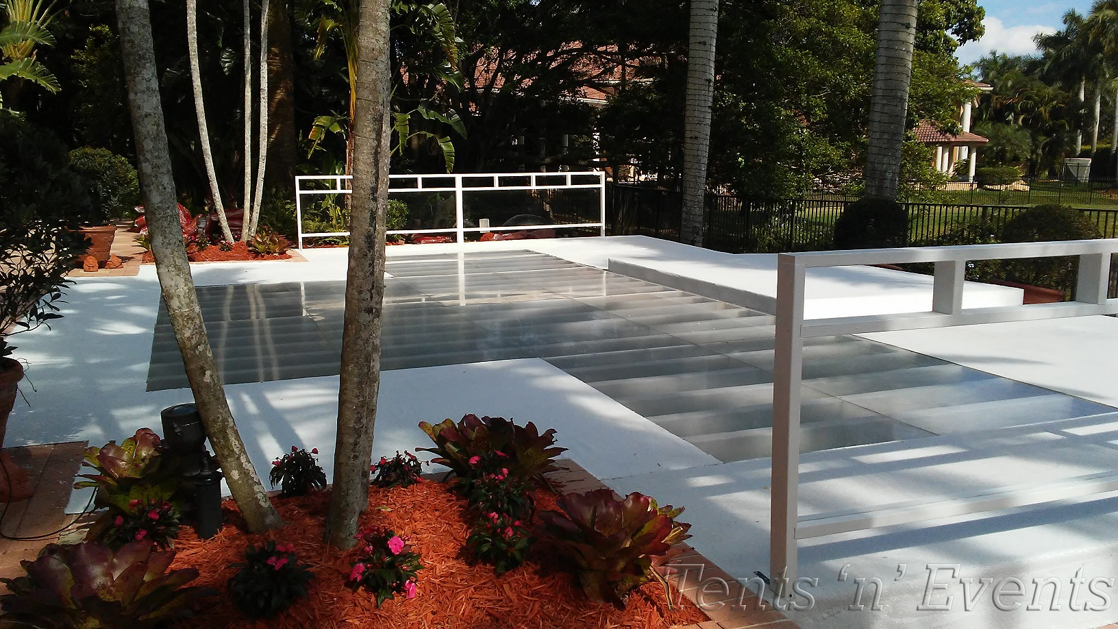 White Carpet and Plexi Glass Insert Pool Cover