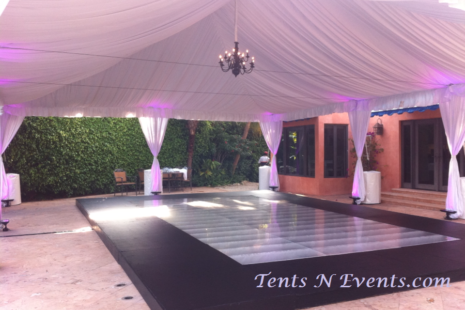 White Ceiling Tent Liner & Leg Drapes, Standard Pool Cover with Plexiglass Center Insert